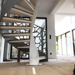escalier industriel en colimaçon