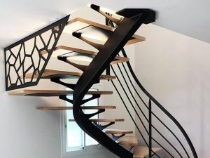 escalier design acier