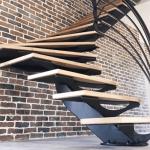 Escalier design tournant