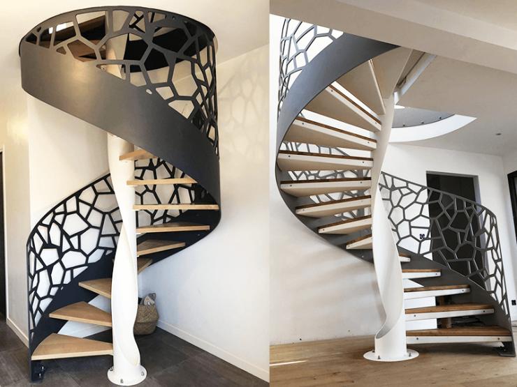 Escalier design colimaçon