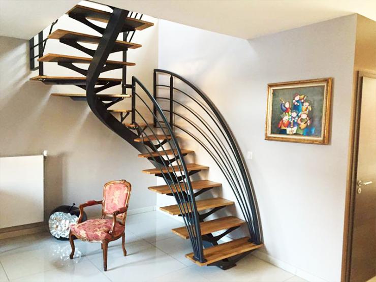 Escalier design forme arrondie