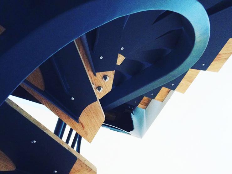 Escalier design vue en coupe