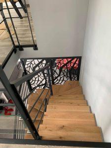 escalier design gris anthracite