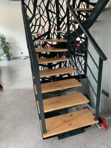 escalier garde corps acier